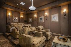 Traditional Home Theater with Wall sconce, Audioholics DIY Multifunction Seat Riser - Construction Procedure, High ceiling