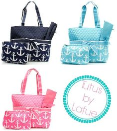 Personalized Nautical/Anchor Diaper Bag by TutusbyLafue on Etsy, $45.00