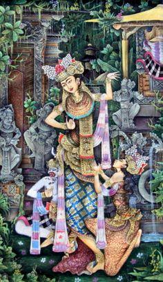 """Balinese Painting""""Honuman Shinta"""""""
