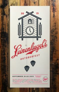 Leinenkugels Brewery Oktoberfest Event Poster. Managed to sneak a tiny bit of overprint in there. Of course.