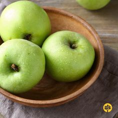 Crunchy and #juicy green #apples help keep the digestive tract #clean and #healthy due to their high #fiber content. Not only are they #delicious but they are also extremely versatile! Add them to a fresh #kale #salad or to an apple #pie! Their tart and zingy flavour never disappoints.