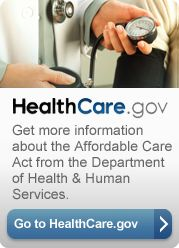 Healthcare.gov.get more information about the affordable care act from the department of Health and Human Services. Go to healthcare.gov button