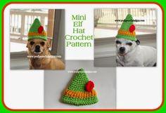 Posh Pooch Designs Dog Clothes: Mini Elf Hat #Crochet Pattern - FREE