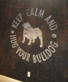 Industrial finish with bulldog logo