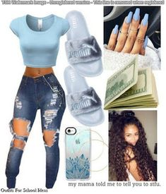Best Spring Outfits Casual Part 22 Swag Outfits For Girls, Boujee Outfits, Cute Swag Outfits, Teenage Girl Outfits, Cute Outfits For School, Teen Fashion Outfits, Dope Outfits, Cute Summer Outfits, Casual Teen Fashion
