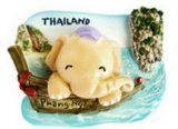 Phang Nga Jame Bond Island Krabi Tour Funny Beach of Thailand with Cute Anime Elephant Souvenir Happy 3D Thai Magnet Hand Made Craft - http://thailand-mega.com/phang-nga-jame-bond-island-krabi-tour-funny-beach-of-thailand-with-cute-anime-elephant-souvenir-happy-3d-thai-magnet-hand-made-craft/