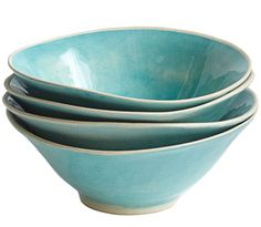 Turquoise Wonki Ware All-Purpose Bowls