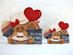 Gingerbread Happy Place Fridge Magnet or Shelf Sitter by ByBrendasHand. Design by: Pamela House: