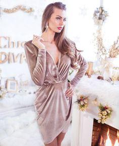 Nude Velvet Dress <3 Wrap Dress, Nude, Velvet, Chic, Dresses, Fashion, Shabby Chic, Vestidos, Moda