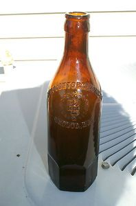 Hexagon Shaped Beer Bottle