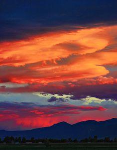 Sunset over Boulder, CO