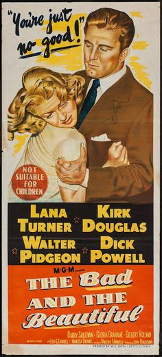 Directed by Vincente Minnelli. With Lana Turner, Kirk Douglas, Walter Pidgeon, Dick Powell. An unscrupulous movie producer uses an actress, a director and a writer to achieve success. Old Movie Posters, Classic Movie Posters, Movie Poster Art, Classic Movies, Film Posters, Art Posters, Old Movies, Vintage Movies, Great Movies