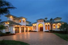 From the gallery of timeless architectural styles comes another classic: the Spanish house plan - exemplified in a two-story, four-bedroom home with a gorgeous courtyard and a fountain. http://www.theplancollection.com/house-plans/home-plan-14761 (Plan 175-1064)