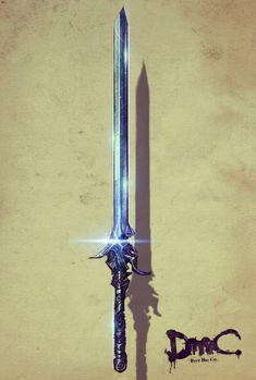 "DmC: Devil May Cry - Dante's Sword ""Rebellion"" Coolest. Naruto Minato, Fantasy Sword, Fantasy Weapons, Espada Tattoo, Nero Dmc, Dante Devil May Cry, Armas Ninja, Cool Swords, Dmc 5"