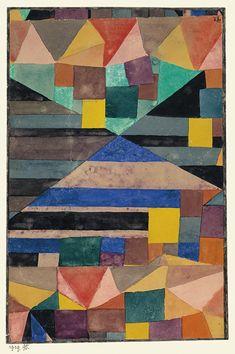 Blauer Berg, Germany, 1919, by Paul Klee.
