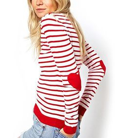 Love this Red Heart Elbow Patch Sweater on #zulily! #zulilyfinds