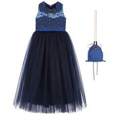 Junona - Girls Long Lace Dress & Bag | Childrensalon