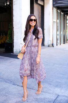 Batik Dress on Little West 12th Street - Zimmermann dress // Iro jacket Stuart Weitzman heels // YSL bag // Celine sunglasses Monday, September 14, 2015