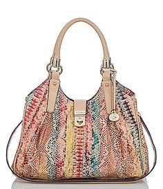 Brahmin Multi Coronado Collection Elisa SnakeEmbossed Hobo Bag #Dillards