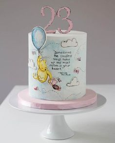 Classic Winnie the Pooh Cake - Cake Wrecks - Home - Sunday Sweets With Character Baby Cakes, Baby Shower Cakes, Cupcake Cakes, Fondant Cakes, Winnie Pooh Torte, Winnie The Pooh Birthday, Gateaux Cake, Cake Wrecks, Character Cakes