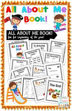 All About Me Book - Great First Day of School Activities! Perfect for Back to School / Beginning of the Year