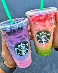Two-toned Pink Purple Drink — plus click for 13 more secret items you can order off the Starbucks menu