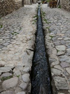 """""""An Ancient Inca Stone Street with a Water Sluice Running Through It"""" Ancient Aztecs, Ancient Civilizations, Ancient History, Machu Picchu, Maya Art, Inca Architecture, Inca Empire, Stone Street, Mystery Of History"""