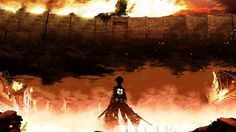 1366x768 Wallpaper attack on titan, eren jaeger, shingeki no kyojin