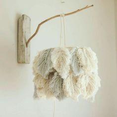 Macrame Wall Hanging Diy, Macrame Art, Macrame Projects, Macrame Knots, Diy Projects, Macrame Mirror, Macrame Curtain, Feather Lamp, Custom Lamp Shades