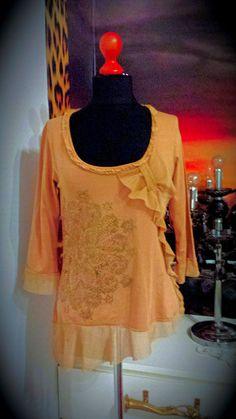 #Farbbberatung #Stilberatung #Farbenreich mit www.farben-reich.com CREAM   GR.S/M  Original Damen Romantik stretchTunika Shirt