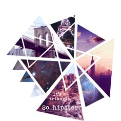 Triangle. by poachy on Polyvore featuring art, Hipster, galaxy, violet and triangle