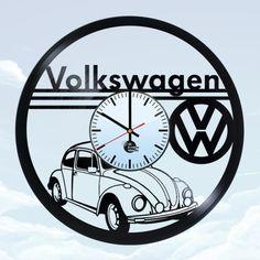 Volkswagen Handmade Vintage Vinyl Record Wall Clock - VINYL CLOCKS