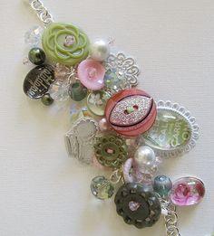 Let's Elaborate, Matilda Jane adult button charm bracelet. $44.00, via Etsy.