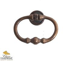 Bosetti Marella 101490 Classic 2-5/8 Inch Diameter Ring Cabinet Pull Distressed Antique Brass Cabinet Hardware Pulls Ring