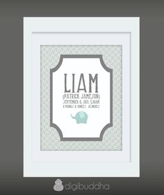 {Liam} Custom Birth Announcement 8x10 Wall Art by digibuddhaPaperie, $18.00  http://www.etsy.com/listing/80534197/liam-custom-birth-announcement-8x10-wall?ga_search_query=liam_search_type=user_shop_ttt_id_6426285