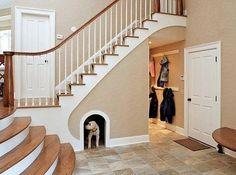 Créez une niche sous un escalier. | 38 idées géniales pour transformer votre maison
