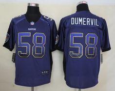 Men's NFL Baltimore Ravens #58 Dumervil 2013 Drift Fashion