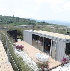 Image 16 of 21 from gallery of Xiangxiangxiang Boutique Container Hotel / Tongheshanzhi Landscape Design Co. Courtesy of Tongheshanzhi Landscape Design Co Container Hotel, Container Shop, Cargo Container Homes, Container House Design, Shipping Container Homes, Shipping Containers, Container Architecture, Container Buildings, Architecture Design