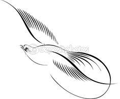 Calligraphic Illustration Of Bird