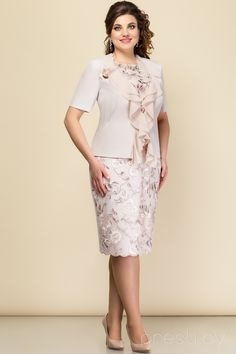 63e2a28ec79 Комплект плательный Elady 2803 пудра - Женская одежда. Вечерние ПлатьяМодаМодели.  Комплект плательный Elady пудра. Купить оптом и в розницу ...