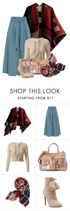 """Poncho for Fall"" by montse-gallardo ❤ liked on Polyvore featuring Burberry, Temperley London, Moschino and MICHAEL Michael Kors"