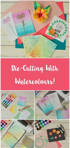 Die-cutting and gorgeous watercolour paper, what more could you want? 😍 Feature your make using Card Making Tips, Card Making Tutorials, Card Making Techniques, Making Ideas, Diy Papier, Do It Yourself Home, Watercolor Cards, Flower Cards, Greeting Cards Handmade