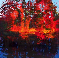 Steve Driscoll Fall is a Feeling You Just Can't Lose , 2014 Urethane on panel x Abstract Landscape, Landscape Paintings, Abstract Art, Canadian Art, Photo Tree, Art Furniture, Western Art, Abstract Backgrounds, Abstract Expressionism