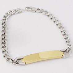 Dolaime ID Bracelets In Silver Tone Link Chain Women Fashion Jewelry Cut Cuban Men Accessory
