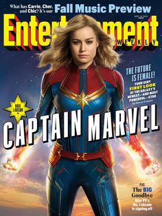 Entertainment Weekly has provided an exclusive first look at Brie Larson suited up as Captain Marvel aka Carol Danvers. Captain Marvel will be Marvel Stuidos' feature, and is poised to be the first female led film for the studio. Super Héroine Marvel, Marvel Dc, Films Marvel, Marvel Heroes, Marvel Live, Mundo Marvel, Marvel News, Punisher Marvel, Thanos Marvel