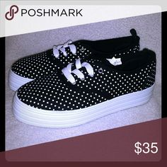 🎀Super Adorbs🎀 Platform Polka Dot Sneakers Brand New Never Worn fits a size 7/8 Shoes Sneakers