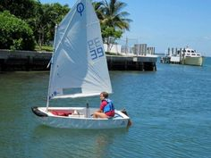 Opti Red/White/Blue Racing Key Biscayne, Florida  #Kids #Events