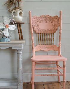 DIY Coral Pressed Back Chair