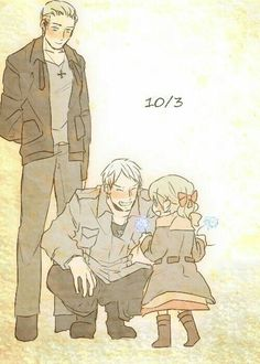 Germany, Prussia and Berlin OMG BERLIN'S SOOO CUTE O(≧∇≦)O, my best friend is Berlin, awww she's cute
