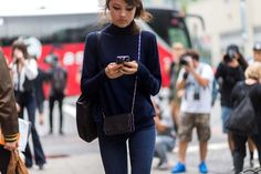 The Latest Street Style Photos From New York Fashion Week via @WhoWhatWearAU